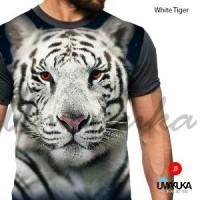Umakuka - Kaos Baju 3D  - Macan Harimau Putih
