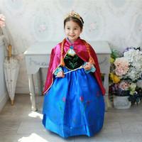 Jual Baju Dress Kostum Anna Frozen Jubah Merah / Gaun Anna Frozen 345 - Size 100