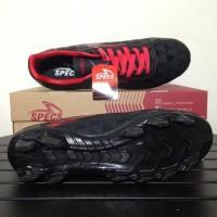 terbaru/ Sepatu Bola Specs Quark FG Black Emperor Red 100756 Original