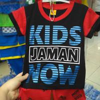 Baju Kaos Kids Jaman Now Setelan (Ukuran Seri)