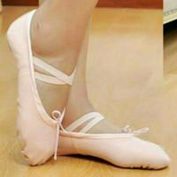 sepatu ballet anak dan dewasa canvas SPLIT SOLE