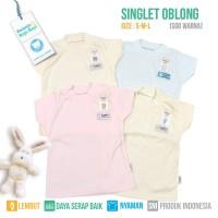 SINGLET OBLONG BAYI FLUFFY (Isi 4Pcs) SGO WARNA S/M/L