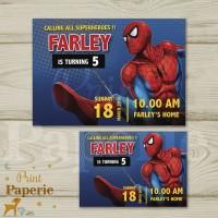 Kartu undangan ulang tahun anak Spiderman ( small Size )