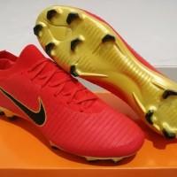 Sepatu Bola - Soccer Nike Mercurial Vapor Flyknit Ultra Red Gold - FG