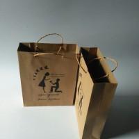 paperbag tas kertas kraft P18 x L6 x T23cm tali kur dengan sablon