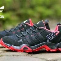 sepatu sneakers untuk wanita adidas ax2 low black sol red import