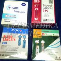 Blood Lancet GCU 100pcs/ Lancet Untuk Alat:Nesco, EasyTouch,Autochek