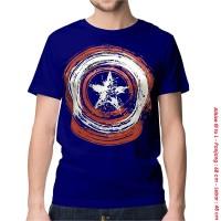 [KAOS DISTRO] baju keren superhero CAPTAIN AMERICA ABSTRACK dewasa