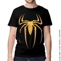 [KAOS DISTRO] baju keren superhero SPIDERMAN GOLD dewasa