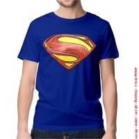 [KAOS DISTRO] baju keren superhero SUPERMAN NEW BLUE dewasa