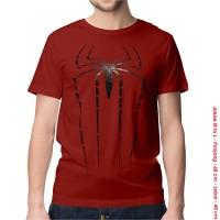[KAOS DISTRO] baju keren superhero SPIDERMAN BIG RED SPANDEX dewasa
