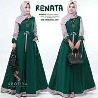 Baju Gamis Renata / Dress Maxy Wanita / Busana Muslim Wanita Modern