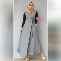 baju muslim wanita blouse tunik jumpsuit jampsuit jamsuit kalani black