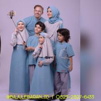 Baju Muslim Branded Sarimbit Keluarga Nibras Family 49 Toska Set Coupl