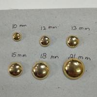 Kancing Baju 21 mm model Jamur Emas dan perak