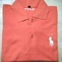 kaos polo t-shirt pria Big size 3xl 4xl Polo ralph orange