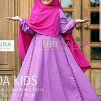 gamis syari kids anak perempuan bergo 8 9 10 11 12 tahun hijab muslim