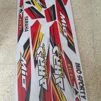 striping lis sticker variasi mio sporty ahrs racing merah