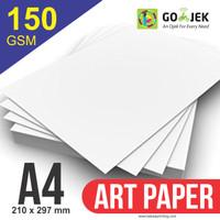 Kertas Art Paper 150 gram Ukuran A4 | Eceran