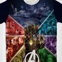Baju Kaos Anak & Dewasa Marvel Avengers Infinity War - Thanos Hand