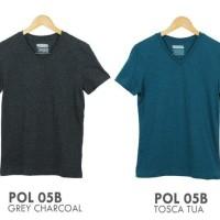 POLHAM V-NECK T-SHIRT | Atasan Kaos Pria Branded Original Sisa Eksport