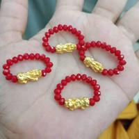 cincin naga/jilin emas asli 24k hongkong import kado unik