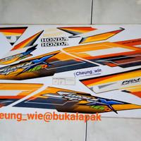 lis body. striping supra x 125 d PGM-F1 orange hitam 2005/2006 ori AHM