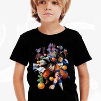 Kaos Baju Tshirt Anak Dragon Ball Z Black002