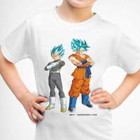 Kaos Baju Tshirt Anak Dragon Ball Goku dan Bejita