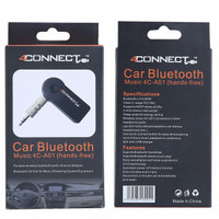 4Connect Bluetooth Music Home Car Speaker Audio Adapter 3.5mm -Black