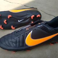 sepatu bola nike mercurial hitam orange murah