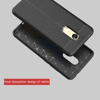 Redmi 5 Plus Soft Hard Case Back Cover Leather Xiaomi Redmi Note 5