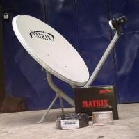 Parabola mini paket lengkap Matrix LNB Kabel Receiver BEST ANTENA