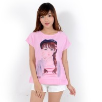 dnb - Baju Atasan Katun Wanita Cute Doll / Blouse Cotton Twistcone - Merah Muda