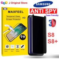 MAXFEELTempered Glass 3D Edge Anti SPY Antispy Samsung S8 S8+ S8 Plus