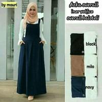 AZKA OVERALL DRESS / baju gamis syari / baju hijab murah / baju remaja