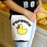 tas selempang cewek sling bag fashion wanita kartun kanvas bta352