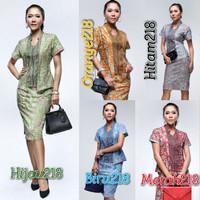 Batik Setelan 218 wanita rok + blus songket wanita seragam kantor