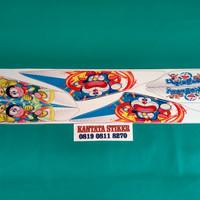 stiker / striping motor beat karbu doraemon 1 putih