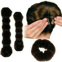 hair bun / bun hair / sanggul / cepolan - 2pcs Hitam