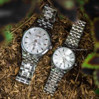 Jam Tangan Couple Original Skmei Stainless Cassual Like Cassio