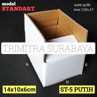 KOTAK ST-5 PUTIH KARDUS KARTON BOX POLOS PUTIH PACKING STANDART