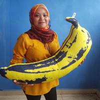boneka bantal pisang full printing jumbo