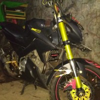 cover Shock USD new Yamaha Vixion NVL hitam