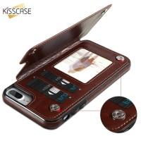 iPhone 6 6S 7 8 Plus KISSCACE Luxury Wallet Case Flip Back Cover