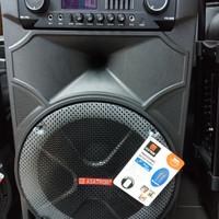 Speaker Wireless Meeting Portable Asatron HT-8881 UKM ( 15 Inch )