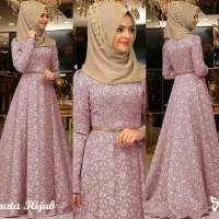 AF Maxi dress casual /Gamis Pesta /Baju Muslim Terbaru Murah Renata
