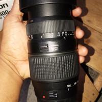 lensa Tele Tamron for canon (70 - 300 mm) super mulus like new