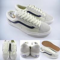 Sepatu Kets Vans Old Skool Marshmallow Racing Dress Blue Off White