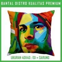Bantal WPAP Kurt Cobain 1 KCBN01 Bantal Sofa/Mobil